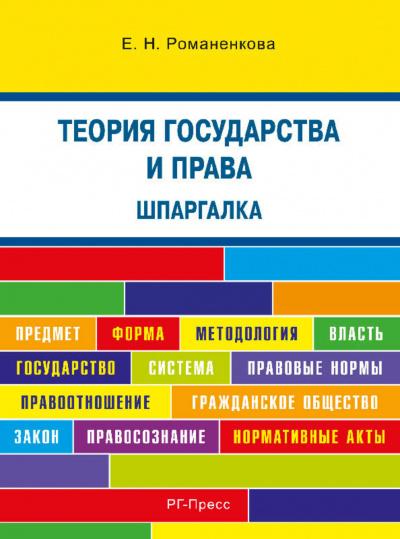 Аудиокнига Теория государства и права. Шпаргалка